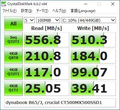 dynabookB65J_CDM_100MiB_SSD